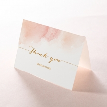 Blushing Rouge with Foil wedding thank you stationery card design