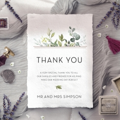 Botanic Romance wedding stationery thank you card item