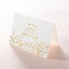 Botanical Canopy wedding thank you stationery card
