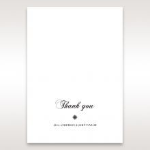 Bouquet of Roses wedding thank you stationery card design