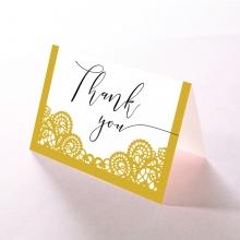 Breathtaking Baroque Foil Laser Cut thank you wedding card