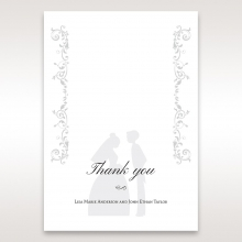 Bridal Romance thank you wedding card
