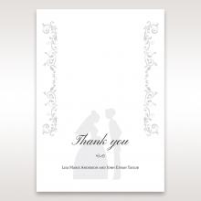 Bridal Romance thank you wedding card