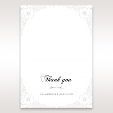 Cascading Flowers thank you stationery card item