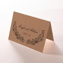 Charming Garland thank you wedding card design