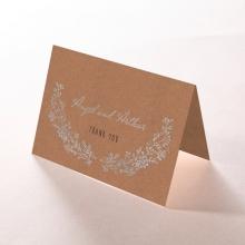 Charming Garland thank you wedding stationery card