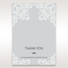 Charming Rustic Laser Cut Wrap wedding stationery thank you card design