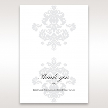 Classic Ivory Damask wedding thank you stationery card item