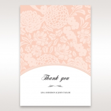 Classic Laser Cut Floral Pocket thank you card