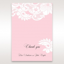 Classic White Laser Cut Floral Pocket wedding thank you card