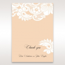 Classic White Laser Cut Sleeve thank you wedding stationery card