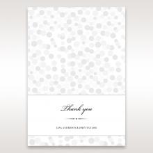 Contemporary Celebration wedding stationery thank you card