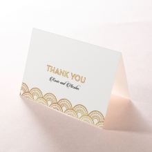 Contemporary Glamour thank you stationery card item