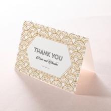 Contemporary Glamour wedding thank you card