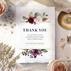 Contemporary Love thank you wedding card