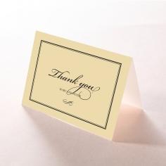 Damask Love thank you stationery card