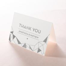 Digital Love wedding stationery thank you card