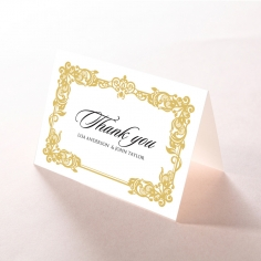 Divine Damask thank you card design