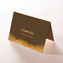 Dusted Glamour thank you stationery card