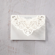 Elegance Encapsulated thank you wedding stationery card item