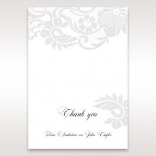 Elegant Black Laser Cut Sleeve thank you card
