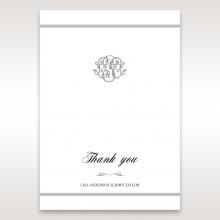 Elegant Seal wedding stationery thank you card