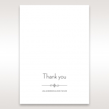 Embossed Date wedding thank you stationery card item