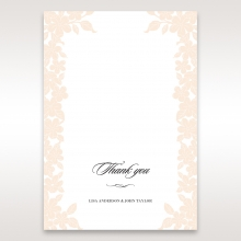 Embossed Floral Frame thank you card design