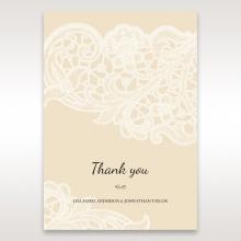 Embossed Floral Pocket thank you stationery card design