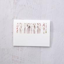 Enchanting Forest 3D Pocket wedding thank you stationery card design
