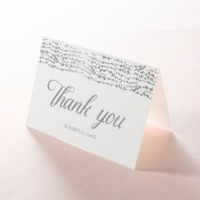Enchanting Halo thank you invitation card