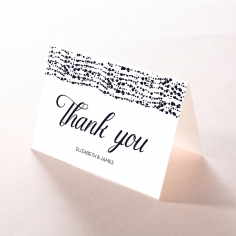 Enchanting Halo wedding thank you card