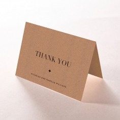 Enchanting Imprint thank you wedding stationery card