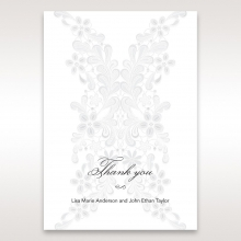 Enchanting Ivory Laser Cut Floral Wrap thank you card