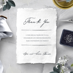 Everlasting Devotion thank you wedding card design