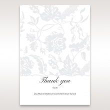 Exquisite Floral Pocket thank you wedding stationery card item