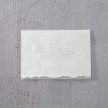 Exquisite Floral Pocket thank you wedding card design