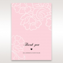 Exquisitely Embossed Floral Pocket wedding thank you stationery card
