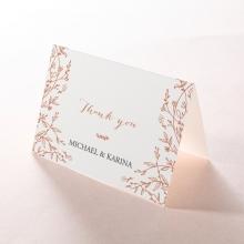 Fleur thank you stationery card design