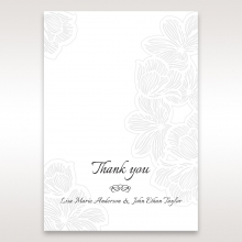 Floral Laser Cut Elegance Black thank you wedding stationery card item