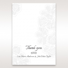 Floral Laser Cut Elegance thank you card design