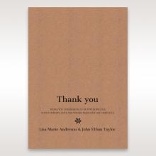 Floral Laser Cut Rustic Gem thank you stationery card design