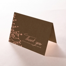 Flourishing Romance thank you stationery card