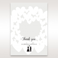 Fluttering Hearts  wedding thank you card design