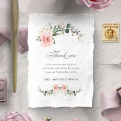 Garden Party thank you wedding stationery card item