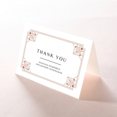 Gatsby Glamour thank you invitation card