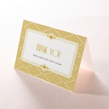 Gilded Glamour thank you wedding card design