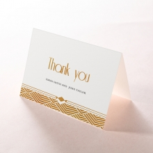Gilded Glamour wedding thank you card