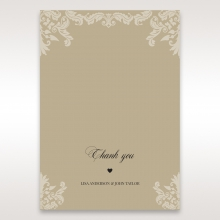Golden Beauty thank you stationery card design