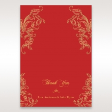 Golden Charisma thank you wedding stationery card design